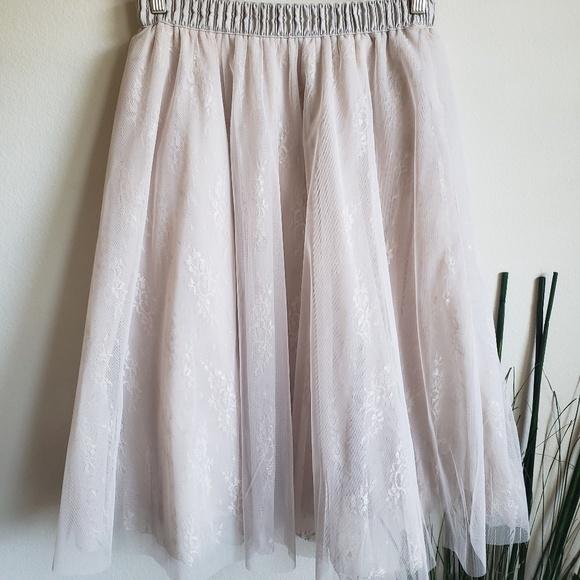 9c8da9e68 Alya Skirts | Francesca Blush Tulle Midi Swing Skirt | Poshmark